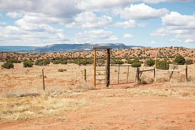 Photograph - Ranch Gates by Tom Cochran