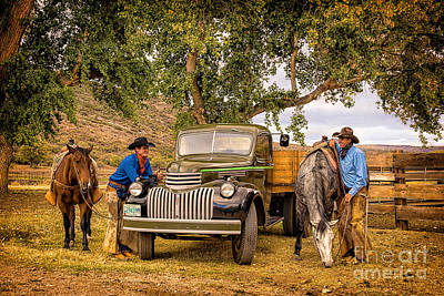 Photograph - Ranch Hands by Priscilla Burgers