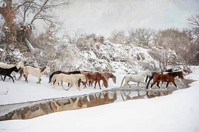 Ranch Horse Winter Art Print
