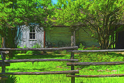 Photograph - Ranch House 10918 by Ray Shrewsberry