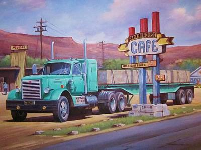 International Painting - Ranch House Truckstop. by Mike Jeffries