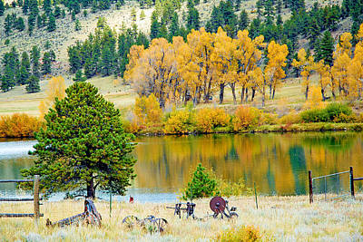 Modern Sophistication Beaches And Waves - Ranch Pond in Autumn by Robert Meyers-Lussier