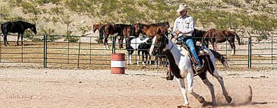 Photograph - Ranch Rider B1 by Walter Herrit