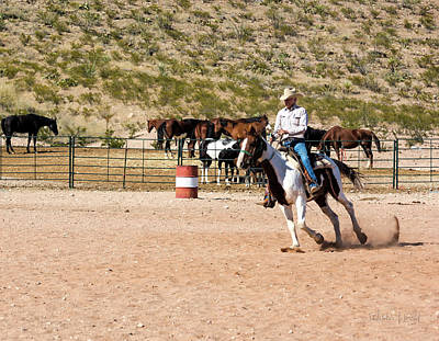 Photograph - Ranch Rider_a1 by Walter Herrit
