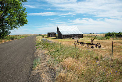 Photograph - Ranch Road And Rusty Plow by Tom Cochran