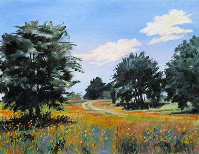 Painting - Ranch Road Near Bandera Texas by Adele Bower