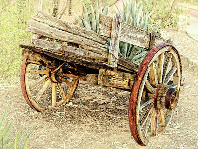 Photograph - Wooden Cart by Sandra Selle Rodriguez
