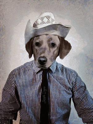 Greyhound Digital Art - Rancher Dog - Da by Leonardo Digenio