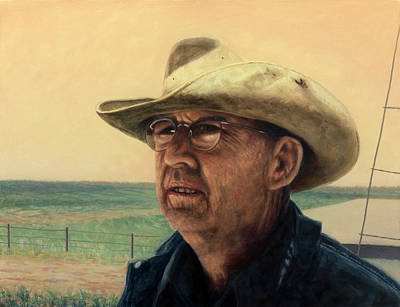 Painting - Rancher by James W Johnson