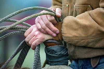 Rough Hands Photograph - Ranching Hands by Todd Klassy