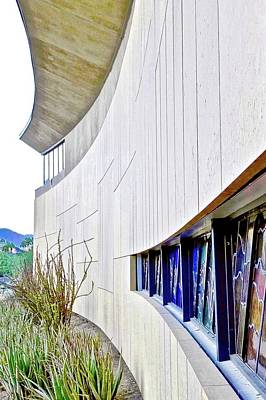 Photograph - Rancho Mirage Library Front Wall by Kirsten Giving