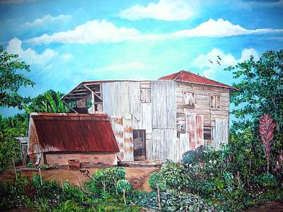Puerto Rico Painting - Rancho Viejo by Jose Lugo