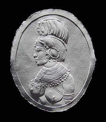 Photograph - Randille Tribe Woman Relief Drawing by Suhas Tavkar