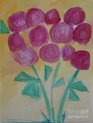 Art Print featuring the painting Randi's Roses by Kim Nelson