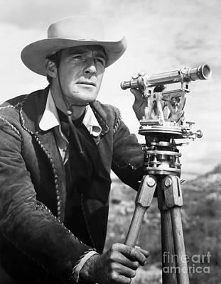 Cowboy Hat Photograph - Randolph Scott (1898-1987) by Granger