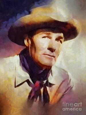 Randolph Scott, Vintage Hollywood Legend Art Print by Sarah Kirk