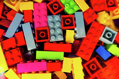 Photograph - Random Building Blocks by SR Green