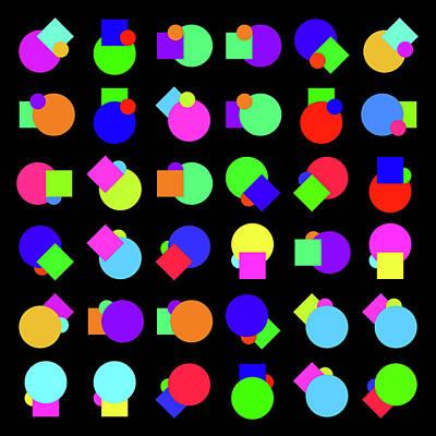 Painting - Random Circle And Square - Phi by REVAD David Riley