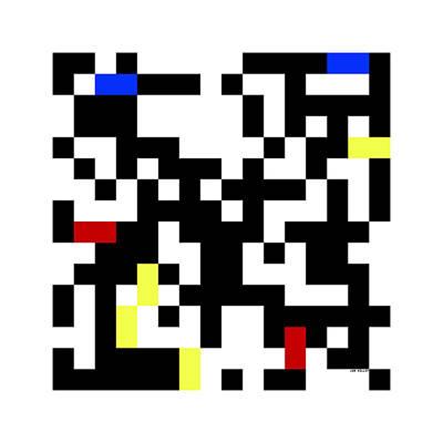 Digital Art - Random Digital Art Multicolor Yellow 1 by Jan Hillov