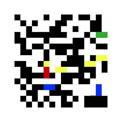 Digital Art - Random Digital Art Multicolor Yellow 4 by Jan Hillov