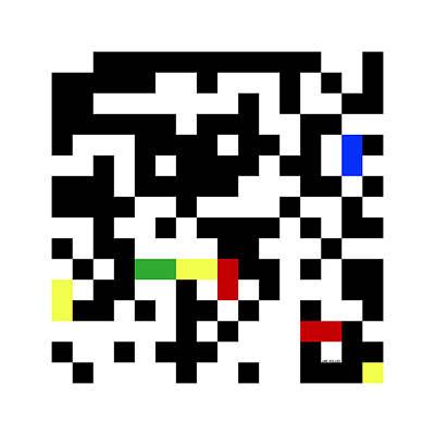 Digital Art - Random Digital Art Multicolor Yellow 5 by Jan Hillov