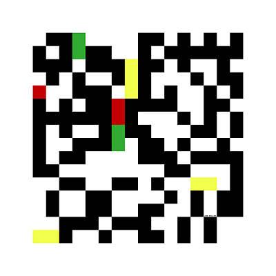 Digital Art - Random Digital Art Multicolor Yellow 8 by Jan Hillov