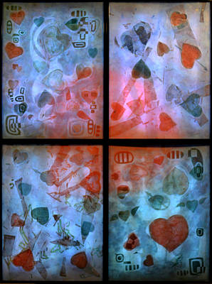 Random Hearts - With Light And Little Ambient Light Original by Sanjib Mallik
