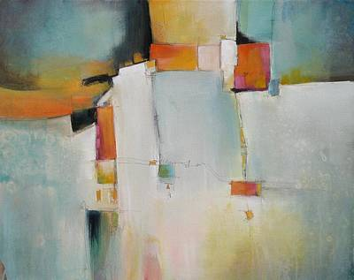 Multi Colored Painting - Random Lines And Spaces by Karen Hale