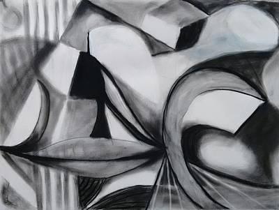 Painting - Random Shapes by Nicolas Bouteneff