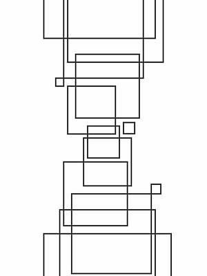 Random Squares Art Print by Daniel Perfeito