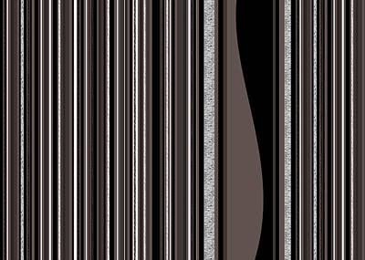 Digital Art - Random Stripes - Black And White by Val Arie