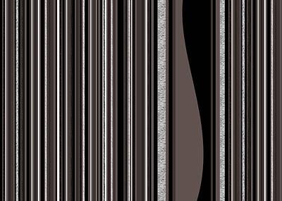 Digital Art - Random Stripes - Black And White by Val Arie