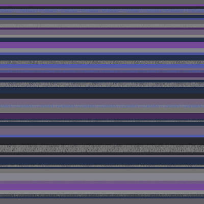 Digital Art - Random Stripes - Grayed Blues And Purple by Val Arie