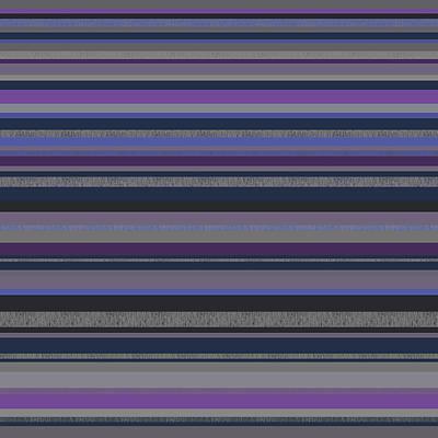 Digital Art - Random Stripes - Grayed Blues And Purple by Val Arie