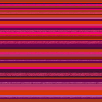 Digital Art - Random Stripes - Hot Pink And Rusty Orange by Val Arie