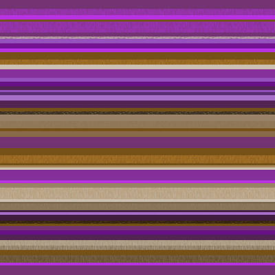 Digital Art - Random Stripes - Purple And Gold by Val Arie