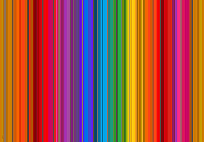 Digital Art - Random Stripes - Rainbow Stripe by Val Arie
