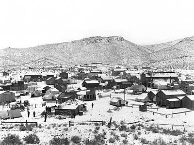 Livery Stable Photograph - Randsburg California Mine Camp In Winter  C. 1899 by Daniel Hagerman
