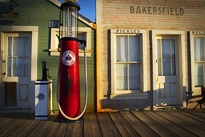 Old Town Digital Art - Randsburg Pump by Mike Hill