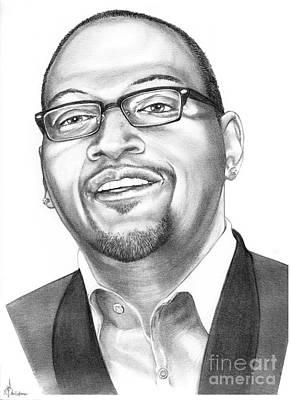 Famous People Drawing - Randy Jackson by Murphy Elliott