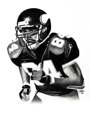 Drawing - Randy Moss by Devin Millington