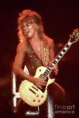 Painting - Randy Rhoads Classic Oil Painting Enlargements by Concert Photos
