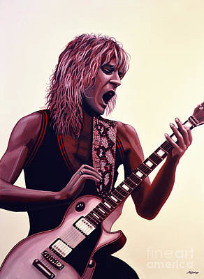 Gibson Painting - Randy Rhoads by Paul Meijering