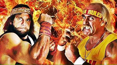 Randy Savage Photograph - Randy Savage Vs Hulk Hogan by Michael Stout