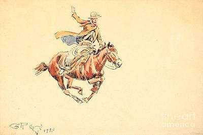 Range Rider Art Print by Celestial Images