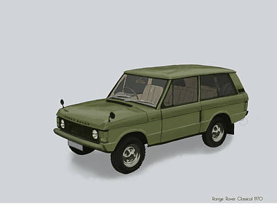Mixed Media - Range Rover Classical 1970 by TortureLord Art