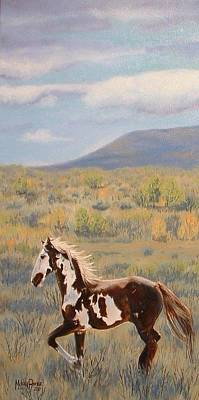 Melody Perez Painting - Range Runner by Melody Perez