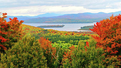 Photograph - Rangeley Lake And Rangeley Plantation by Mike Breau