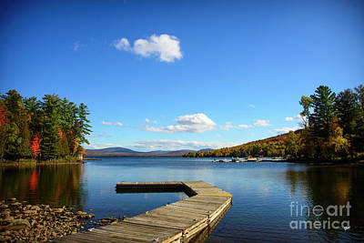 Photograph - Rangely Lake Dock by Alana Ranney