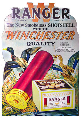 Painting - Ranger Smokeless Shotshells Display by Unknown